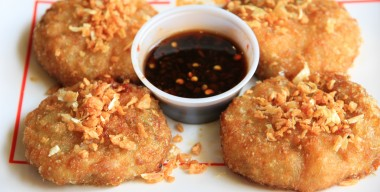 Fried Chive Cakes